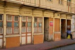La Martinique, ville pittoresque de Le Saint Esprit dans les Antilles Image stock