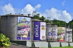 La Martinique, ville pittoresque de Saint Pierre dans les Antilles photo stock