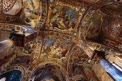 La Martorana教会在巴勒莫,意大利 库存照片