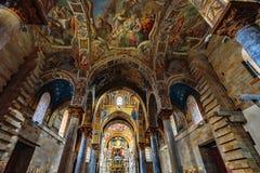 La Martorana教会在巴勒莫,意大利 免版税库存图片