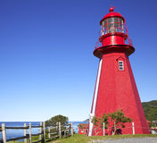 La Martre Lighthouse, Quebec, Canada Royalty Free Stock Photo