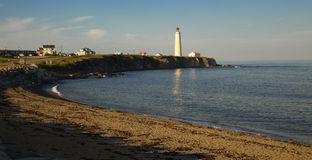 La Martre灯塔在Gaspesie,魁北克 图库摄影