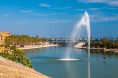 La marzo, Palma de Mallorca di Parc de Immagine Stock Libera da Diritti
