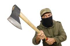 La maschera d'uso criminale isolata su bianco immagini stock libere da diritti
