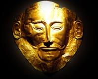 La maschera dorata di Agamemnon fotografie stock