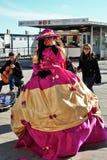 la maschera stile veneziana, il carnevale di Venezia è una dei più famose nel mondo, il suo caratteristico è le maschere, create  fotografia stock