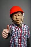 La mascherina di orrore dice eccellente! Fotografia Stock Libera da Diritti