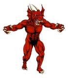 La mascota roja del dragón agarra hacia fuera Imagen de archivo libre de regalías