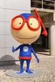 La mascotte di Lisbona Oceanarium Fotografia Stock