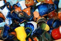 La massa dei POT della ceramica Fotografia Stock