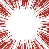 La massa della freccia converge illustrazione vettoriale
