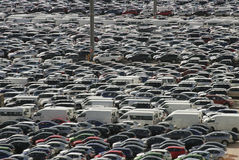 La massa delle automobili Fotografia Stock