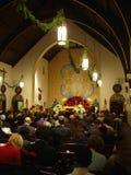 La massa di notte di Natale Fotografia Stock Libera da Diritti
