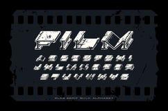 La massa extra decorativa ha esteso la fonte dei caratteri tipografici con grazie con struttura approssimativa illustrazione di stock