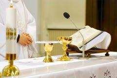 La masse catholique Photographie stock libre de droits