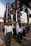 La masse de semaine sainte de la gloire dans Alangasi, Equateur Images libres de droits