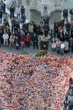 La masse funèbre pour pape John Paul II à Zagreb, Croatie Photographie stock