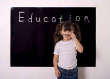 La matemáticas de la ingeniería de la tecnología de la ciencia PROVIENE concepto de la educación Niño de la colegiala fotografía de archivo