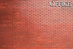 La matière de base de texture de mur de briques du bâtiment d'industrie escroque Photos libres de droits