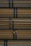 La matière première, acier, matériel de tige, tuyau, a empaqueté, approvisionnement d'actions photographie stock