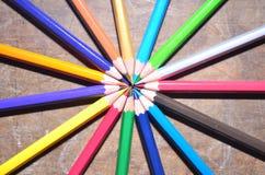 La matita di colore Fotografie Stock