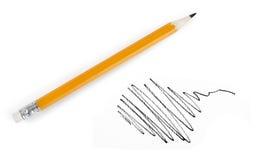 La matita disegna Fotografia Stock Libera da Diritti