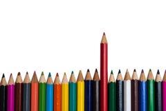 La matita rossa Fotografie Stock Libere da Diritti