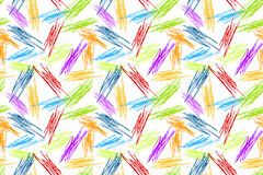 La matita scarabocchia il fondo senza cuciture dell'arcobaleno Immagine Stock