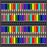 La matita variopinta, multi matite colorate ha messo, colora il fondo della matita Fotografie Stock Libere da Diritti