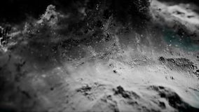 La matrice de points abstraite a fait une boucle dans un modèle de vague Lecture de spectre vibrant doux Animation prête de boucl photos stock
