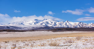 La matrice mastica-Sardyk le montagne di Sayan dell'più alta montagna Fotografia Stock