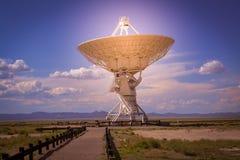 La matrice molto grande famosa di VLA vicino a Socorro New Mexico Fotografia Stock