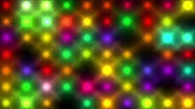 la matriz de neón del punto del color 4k, disco de la barra del club nocturno llevó la luz en fondo de etapa stock de ilustración