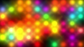 la matriz de neón del punto del color 4k, disco de la barra del club nocturno llevó la luz en fondo de etapa ilustración del vector