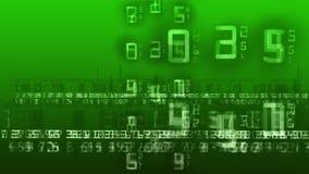 La matriz numera la animación verde stock de ilustración