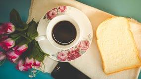 La mattina è perfetta per il vostro caffè favorito, Immagine Stock Libera da Diritti