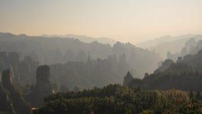 La mattina di Zhangjiajie Fotografia Stock Libera da Diritti