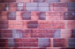 La mattone-forma decorativa ha piastrellato la struttura della parete con la scenetta fondo, esteriore fotografia stock libera da diritti