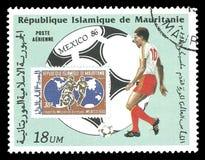 La Mauritania, coppa del Mondo di calcio Fotografia Stock Libera da Diritti