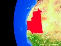 La Mauritanie de l'espace illustration de vecteur