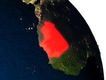 La Mauritanie de l'espace Photos stock