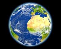 La Mauritanie en rouge de l'espace Photographie stock libre de droits