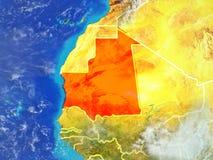La Mauritanie sur terre de l'espace illustration libre de droits