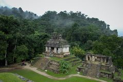 La Maya de Palenque arruina en Chiapas México imagenes de archivo