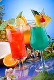 La mayoría de la serie popular de los cocteles - el AMI Tai, Hawa azul Fotos de archivo libres de regalías