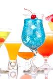 La mayoría de las bebidas alcohólicas populares del coctel Imágenes de archivo libres de regalías