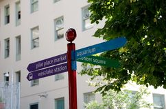 La mayoría de las muestras de calle importantes de Seattle Imagen de archivo