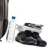 La mayoría de los accesorios necesarios para hombre de los deportes Fotografía de archivo libre de regalías