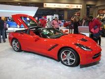 La mayoría del coche popular en el salón del automóvil Imágenes de archivo libres de regalías