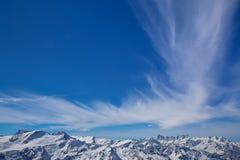 La mayoría del landsacpe hermoso de la nieve Imagen de archivo